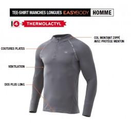T-Shirt col zippé DamartSport
